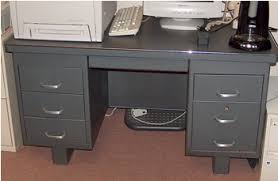 Grey Office Desk Metal Desk Grey Office Equipment Sale Geneva Illinois