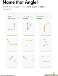 geometry name that angle angles worksheets and geometry