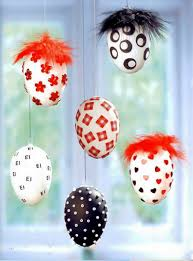 easter egg craft ideas hanging ornaments confetti