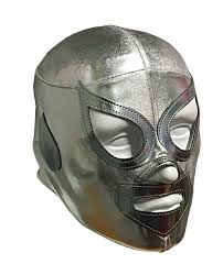 silver mask santo jr youth lycra youth lucha libre mask silver