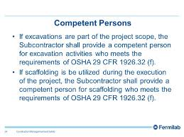 Osha Chair Requirements Es U0026h Roles And Responsibilities Jack Cassidy Construction