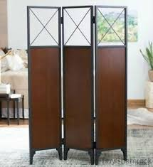 Rustic Room Dividers by Room Divider Screen Rustic Industrial Style Wood Metal 3 Panel