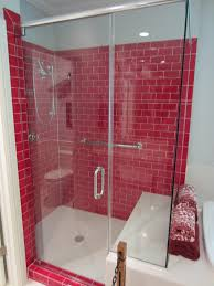 barenzbuilders red subway tile shower luxurious bathrooms