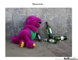Barney Meme - drunk barney by recyclebin meme center