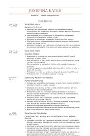 Msw Resume Social Work Intern Resume Samples Visualcv Resume Samples Database