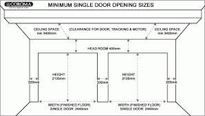 single car garage door dimensions u2013 venidami us