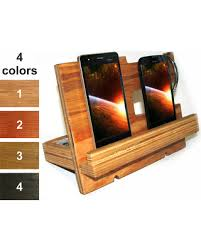 Desk With Charging Station Fall Savings On Docking Station Wood Men Wooden Charging Station