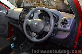 renault cars kwid renault kwid dashboard india unveiling indian autos blog