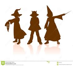 Halloween Silhouettes by Three Witch Silhouettes Stock Photography Image 35587662