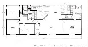 Ranch Floor Plans Bedroom Impressive 4 Bedroom House Plans Ranch Floor Alluring 4