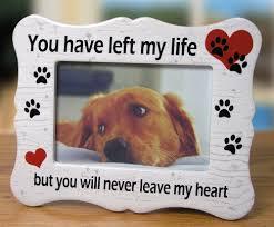 pet memorial gifts pet memorial ceramic picture frame you left my