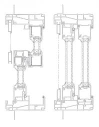 simple sliding glass doors drawing track crt 103 d with