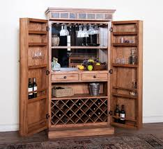 Oak Bar Cabinet Sedona Collection Rustic Oak Finish Wood Bar Armoire Cabinet With