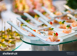 cocktail party decoration shrimp spoon stock photo 169438730