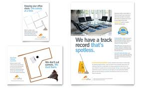 commercial cleaning brochure templates janitorial office cleaning flyer ad template design