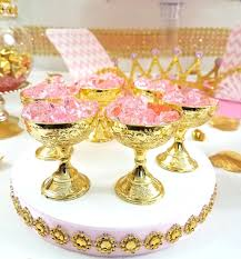 royal princess baby shower ideas princess baby shower image 12 small gold cup favors for royal