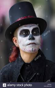 halloween in mexico city mexico city mexico 1st nov 2014 a man poses during the