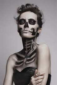 30 creepiest halloween makeup ideas skeletons halloween make up