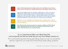 blood type diet and allergies d u0027adamo personalized living