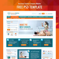 insurance solution company website free psd template at