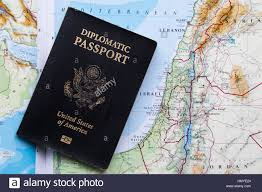 The United States Of America Map by Diplomatic Passport Of The United States Of America On A Map Of