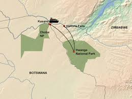 Victoria Falls Map Zambezi Queen And Hwange Package Hideaways