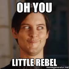 Rebel Meme - oh you little rebel peter parker spider man meme generator