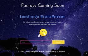 fantasy coming soon responsive widget template