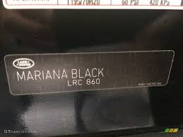 2014 range rover sport color code 860 for mariana black metallic
