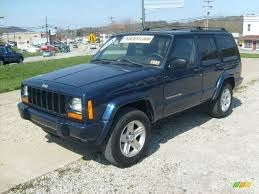 jeep cherokee 2001 2001 patriot blue pearlcoat jeep cherokee classic 4x4 48167962
