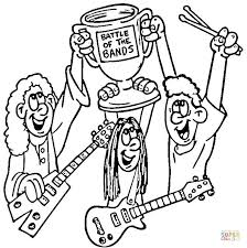 battle bands coloring free printable coloring pages