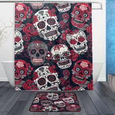 Frankenstein Shower Curtain by Curtains 73 Rare Sugar Skull Shower Curtain Picture Ideas Shower