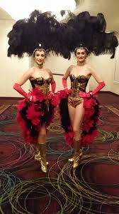 Vegas Showgirl Halloween Costume Black U0026 Gold Touch Red Las Vegas Showgirl Costume