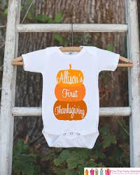 thanksgiving pumpkin shirt 1st by getthepartystarted on zibbet