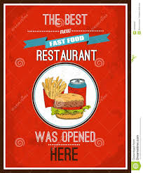 affiche cuisine vintage hotdog poster stock vector illustration of paper order 43956402