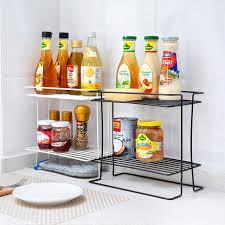 fourniture de cuisine fer couche couette rack de stockage de fournitures de cuisine