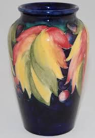 Rookwood Vase Value Vintage Signed Moorcroft Art Pottery Cobalt Blue Leaf U0026 Berry Xl 6