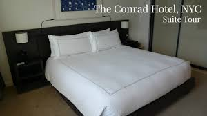 conrad hotel nyc suite tour new york city five star hotel lux