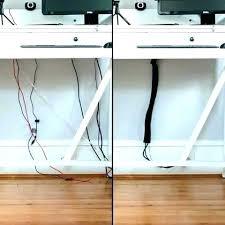 Computer Desk Cord Management Desk Cord Organizer Self Adjusting Computer Cable Organizer In Use