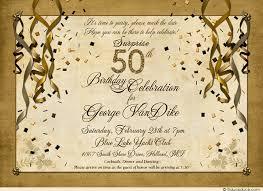 festive birthday party invitations golden streamers