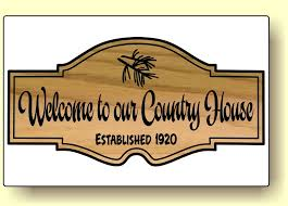 carved cedar cottage welcome sign room for custom personalized