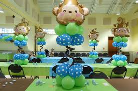 monkey decorations for baby shower monkey themed baby shower decorations 12659