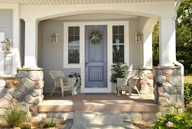 Home Exterior Design Brick And Stone Decorating Exterior Design Therma Tru Doors With Brick Wall And
