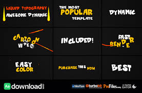 videohive dynamic liquid typography free download free after