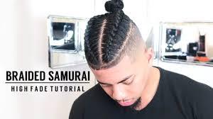 how to cut your own hair braided man bun samurai top knot