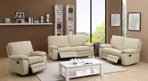 Leather Sofa Beige Top Grain Leather Sofa Recliner Facil Furniture