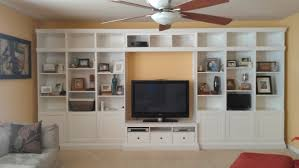 do it yourself built in entertainment center wall unit with two
