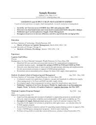 Logistics Resume Examples by Military Resume Example