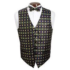 mardi gras tie david s formal wear mardi gras diamond vest and tie set
