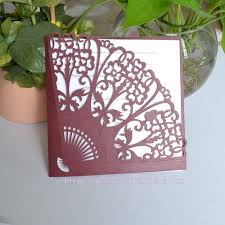 Fan Style Wedding Programs Burgundy Wine Red Decorative Wedding Chinese Traditional Element